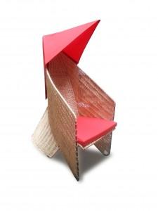 Fauteuil Cocotte Brahma rouge - design Mops