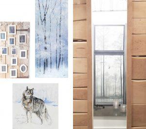 Comme dans la mode, c'est la collection automne-hiver. Piotr souhaite une ambiance neige et montagne.